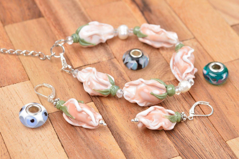 Schmuck Set handmade Damen Armband Modeschmuck Ohrringe Designer Accessoires bestellen
