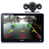 Xgody 886BT Car GPS Navigation with 6M Backup Camera Sunshade 7'' 256MB/ 8GB Capacitive Touch Screen SAT NAVI Spoken Turn-By-Turn Directions Lifetime Map Updates Speed Limit Displays (Color: 886BT+YM)