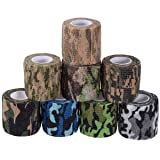 Camouflage Tape Cling, Camouflage Tape Camo Adhesive Tape Camo Form Camouflage Gun Gear Self Cling Stretch Wrap Sport Camo Tapes 8 colors (Color: 8 rolls, Tamaño: F)