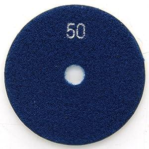 Easy Light Wet Diamond Polishing Pad 3 Inch 10 PCS Grinding Buff for Stone Granite Marble Grit 50