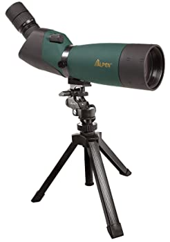 ALPEN Waterproof Fogproof Spotting Scopes. Straight or 45 Degree Models Available with BAK4 High Index or BK7 Glass, and Fully Multi-Coated or Multi-Coated Optics. Table-top Tripod and Field Carrying Case Included ALPEN 60×80 Waterproof Fog proof Spotting Scopes Review