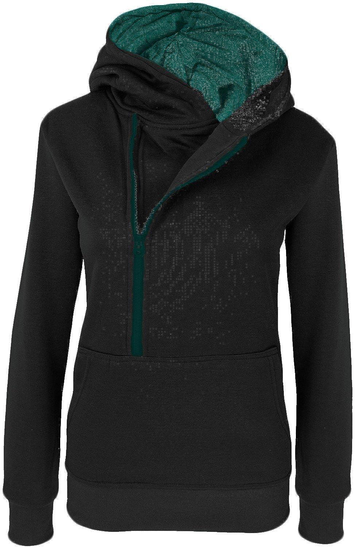 DANAEST Damen Hoodie Kapuzenpullover mit Bauchtasche Nr. (299) online bestellen