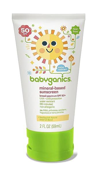 Babyganics 天然婴儿防晒霜 SPF50 59ml*4瓶图片