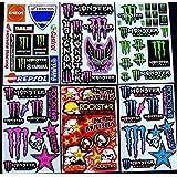 6 bogen Aufkleber BF-1 selbstklebend Stickers rockstar energy drink BMX moto-cross decals Abziehbilder MX