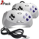 2 Pack USB SNES Retro Gaming Controller, miadore Classic USB Gamepad for Windows PC MAC Raspberry Pi