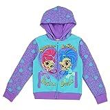 Shimmer & Shine Toddler Little Girls Sisters Devine Zip Hoodle Sweater Jacket (2T, Purple) (Color: Purple, Tamaño: 2T)