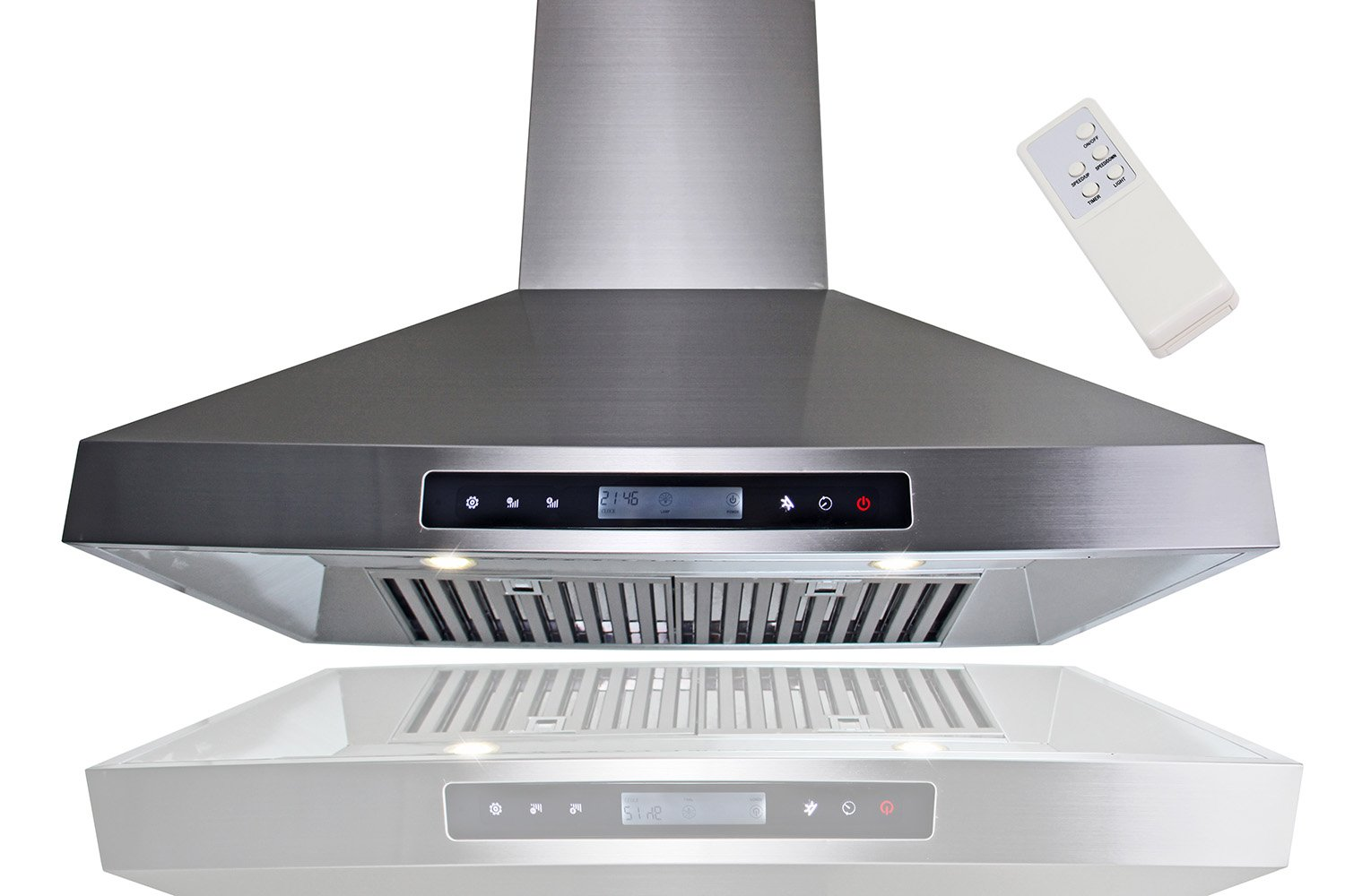 "Golden Vantage New European Style 30"" Kitchen Island Mount Stainless Steel Range Hood Vent w/ Remote Control at Sears.com"