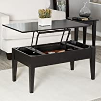 Finley Table - Black Wood 40 inches