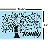 Family Tree Stencil for Painting Wood Signs - Reusable
