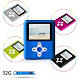ACEE DEAL MP3/MP4 Player, Voice Recorder, Including a 32GB memory, with MINI USB Port Slim Classic Digital Voice Recorder, Music Player, E-book, Photo viewing/Video Playing-(Blue) (Color: 32GB,Blue2)