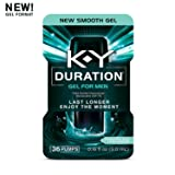 K-Y Duration Gel for Men - Male Genital Desensitizer, 36 pumps / .16oz (Condom Safe), Endurance Enhancer To Help You Last Longer & Enjoy The Moment, Latex Condom Compatible, Climax Control & Delay Gel