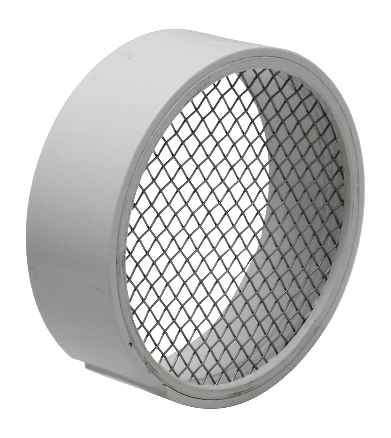 """Raven TVS2SS PVC Termination Vent with Stainless Steel Screen, 2"""""""