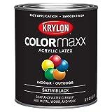 Krylon K05626007 Colormaxx Brush On Paint, Quart, Black (Color: Black, Tamaño: Quart)