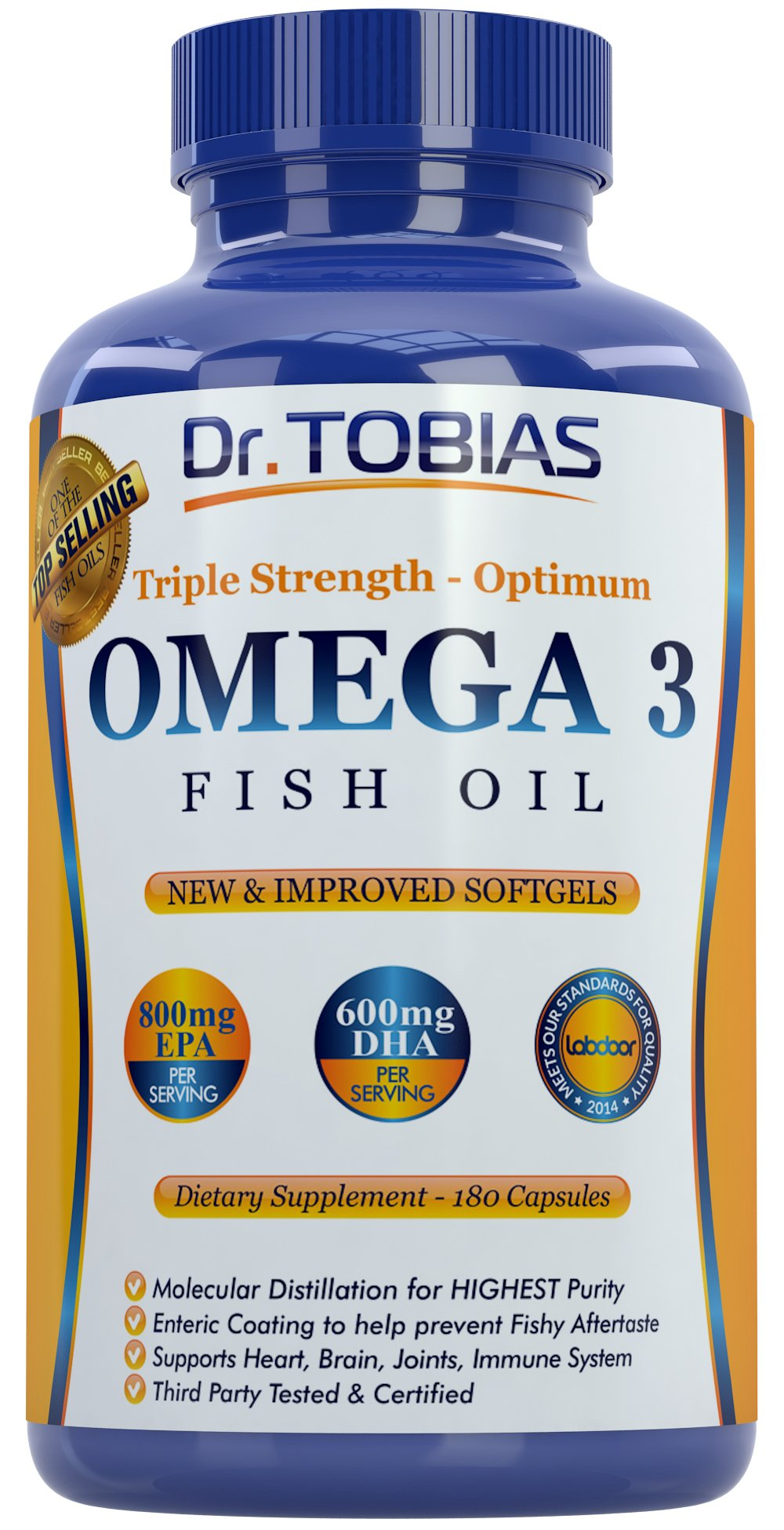 Galleon Dr Tobias Omega 3 Fish Oil Triple Strength 180 Caps