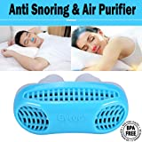 Gycoo - New Best Original Anti Snoring Solution & Air Purifier Filter Stop Snore Nose Vent for Comfortable Sleep Blue (Color: Blue)