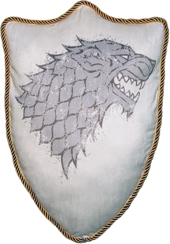 House Stark Direwolf Sigil Throw Plush Pillow