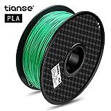 TIANSE Green PLA 3D Printer Filament 1.75mm 1KG Spool Filament for 3D Printing, Dimensional Accuracy +/- 0.03 mm (Color: Green)