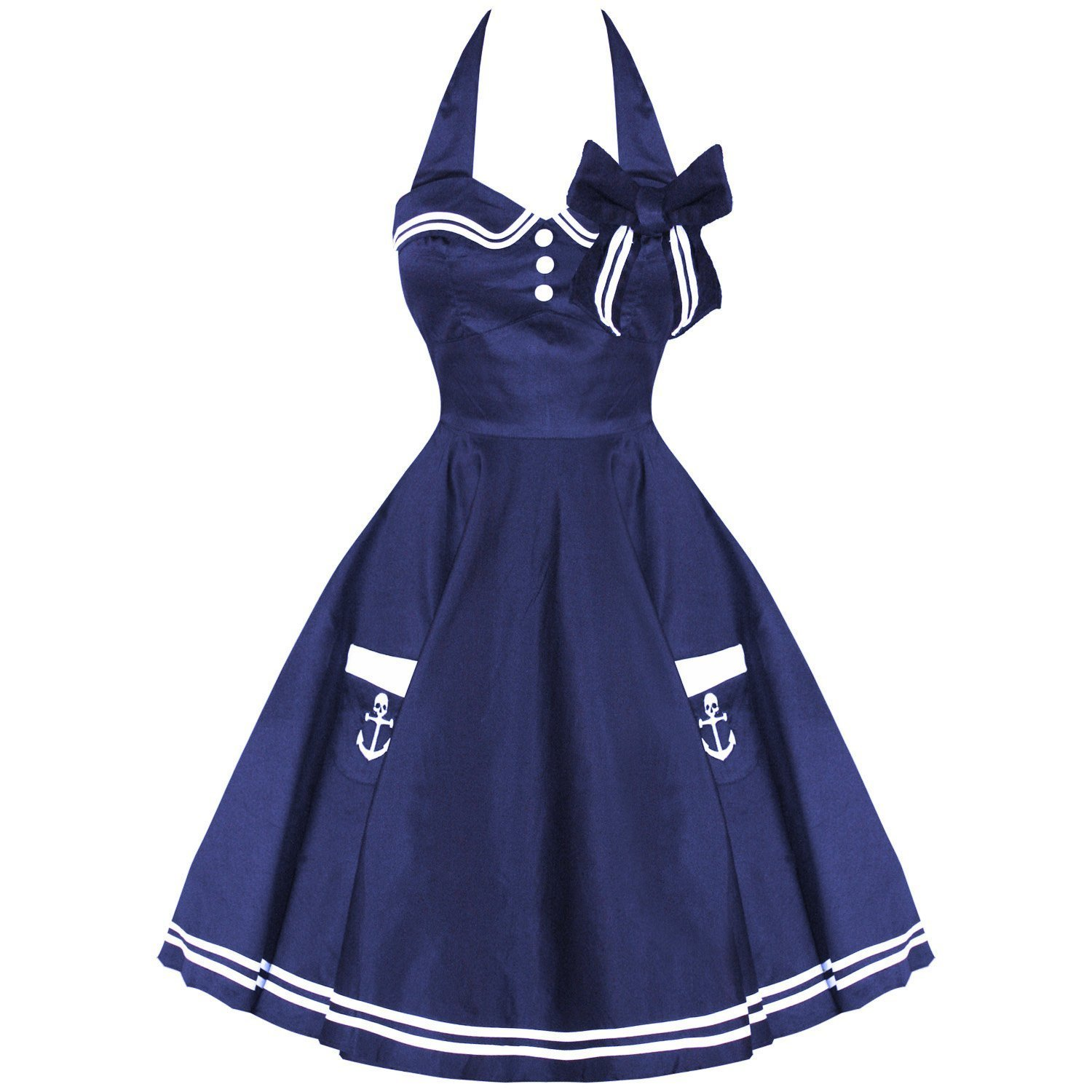 Motley Sailor 50s Swing Dress