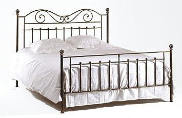 matelpro lit fer forg yolanda vert yolanda vert or 140 x 190 cm cuisine maison m62. Black Bedroom Furniture Sets. Home Design Ideas