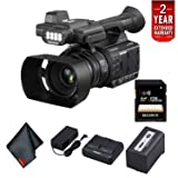 Panasonic AG-AC30 Full HD Camcorder with Touch Panel LCD Viewscreen and Built-in LED Light (US Version) - Starter Bundle with 2 Year Extended Warranty (Color: 2 Year Extended Warranty, Tamaño: Starter)