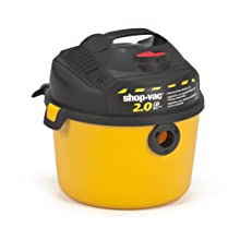 Shop-Vac 5860210 2.0-Peak Horsepower Portable Right Stuff Wet/Dry Vacuum, 2.5-Gallon