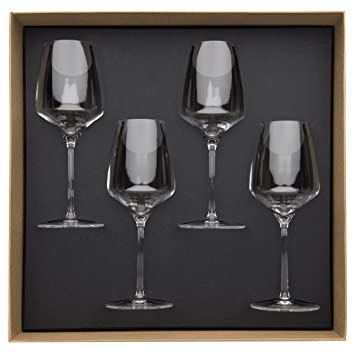 guy degrenne 206396 coffret coffret de 4 verres vin. Black Bedroom Furniture Sets. Home Design Ideas