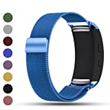 Samsung Gear Fit2/Gear Fit 2 PRO Smart Watch Replacement Band,Feskio Magnet Lock Stainless Steel Milanese Loop Metal Replacement Watchband Bracelet Wrist Strap for Gear Fit2 SM-R360 and Gear Fit 2 PRO (Color: Blue, Tamaño: One Size)