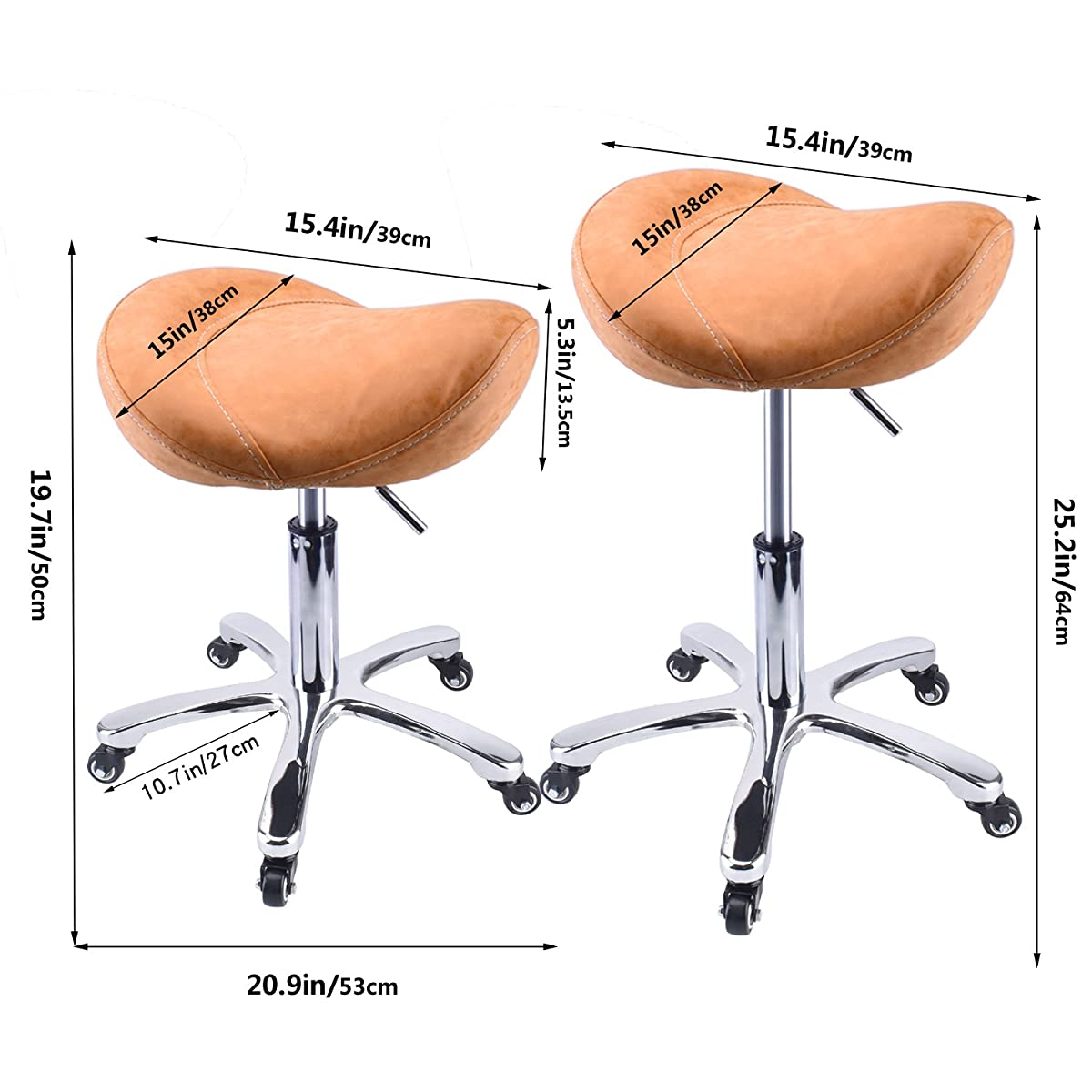 Rolling Stool Saddle Chair Beauty Salon Stool 