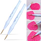 Zhanmai 2 Pieces Adjustable Embroidery Pens Sewing Embroidery Punch Needle Weaving Tools for Stitching Applique Embellishment (Color: As the Picture Shown)