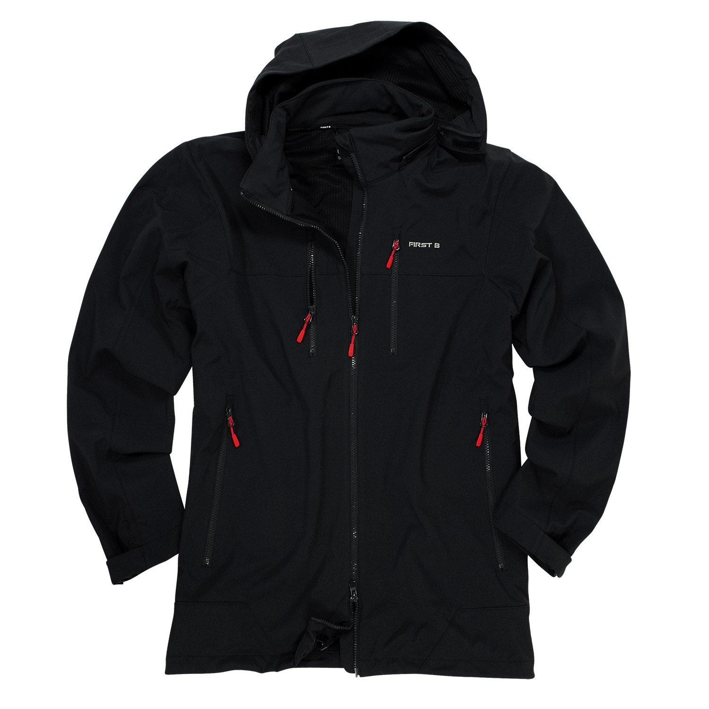 Softshell-Jacke || Schwarz und Wetterfest – XXL Größen online kaufen