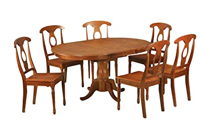 East West Furniture PONA5-SBR-C 5-Piece Dining Table Set