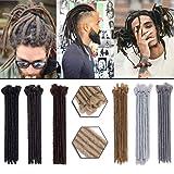 Dreadlocks Hair Extensions 12 Inch 30pcs Soft Crochet Twist Braiding Hair for Men Faux Locs Dread Hairpieces Reggae Hippie Style Black (Color: Black, Tamaño: 30 Pcs)
