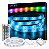 LED Strip Lights, Govee 16.4ft RGB Color Changing Light Strip Kit with Remote and Control Box for Room,Bedroom, TV, Ceiling, Cupboard Decoration, Bright 5050 LEDs, Cutting Design, Easy Installation (Color: Multicolor, Tamaño: 16.4 Feet Non-waterproof)