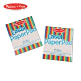 Melissa & Doug Easel Paper Pad (Top-Bound Pad, Premium White Bond Paper, 2-Pack with 50 Sheets, 17 × 20 inches) (Color: Multicolor)