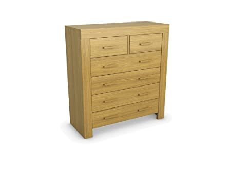 Jitona Jive Veneer 4 Plus 2-Drawer Chest, Wood, Oak
