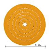 Buffing Polishing yellow Treated Wheel 8 inch (50 Ply) For Bench grinder With 5/8