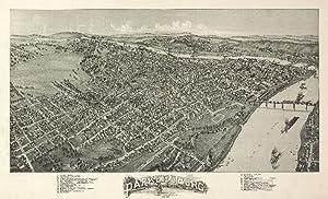 Parkersburg, West Virginia - Panoramic Map