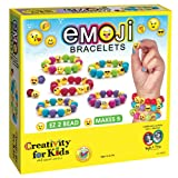 Creativity for Kids Emoji Bead Bracelet Craft Kit - Makes 5 Emoji Bracelets (Color: Multicolor)