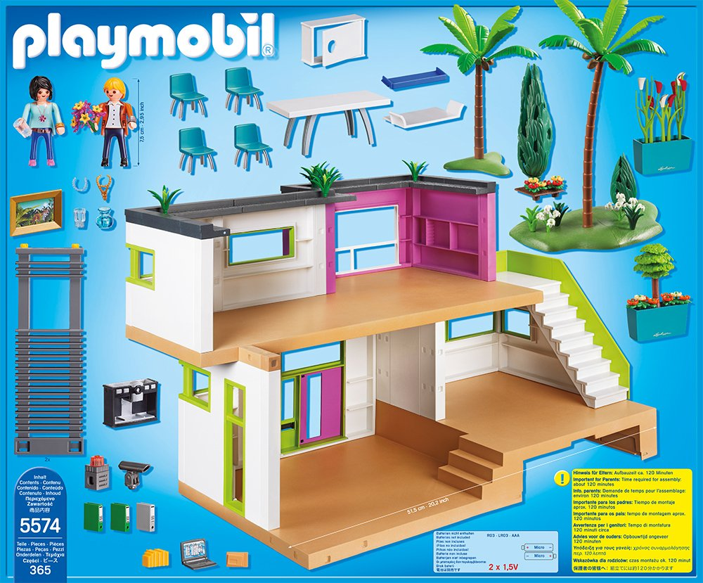 Amazon playmobil city life moderne luxusvilla 5574 for Salle a manger playmobil city life