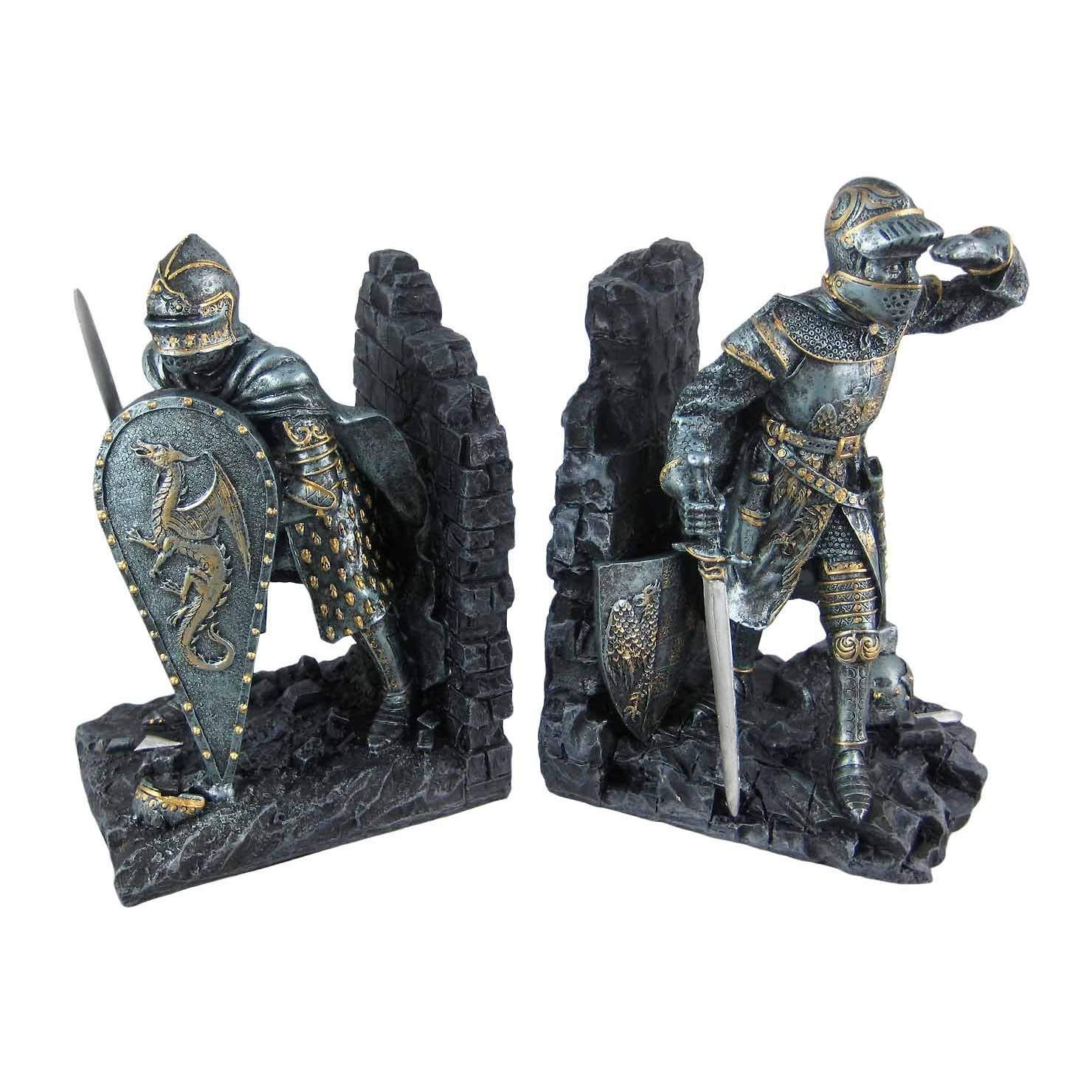 Medieval Knight Bookends Book Ends Armor Decor