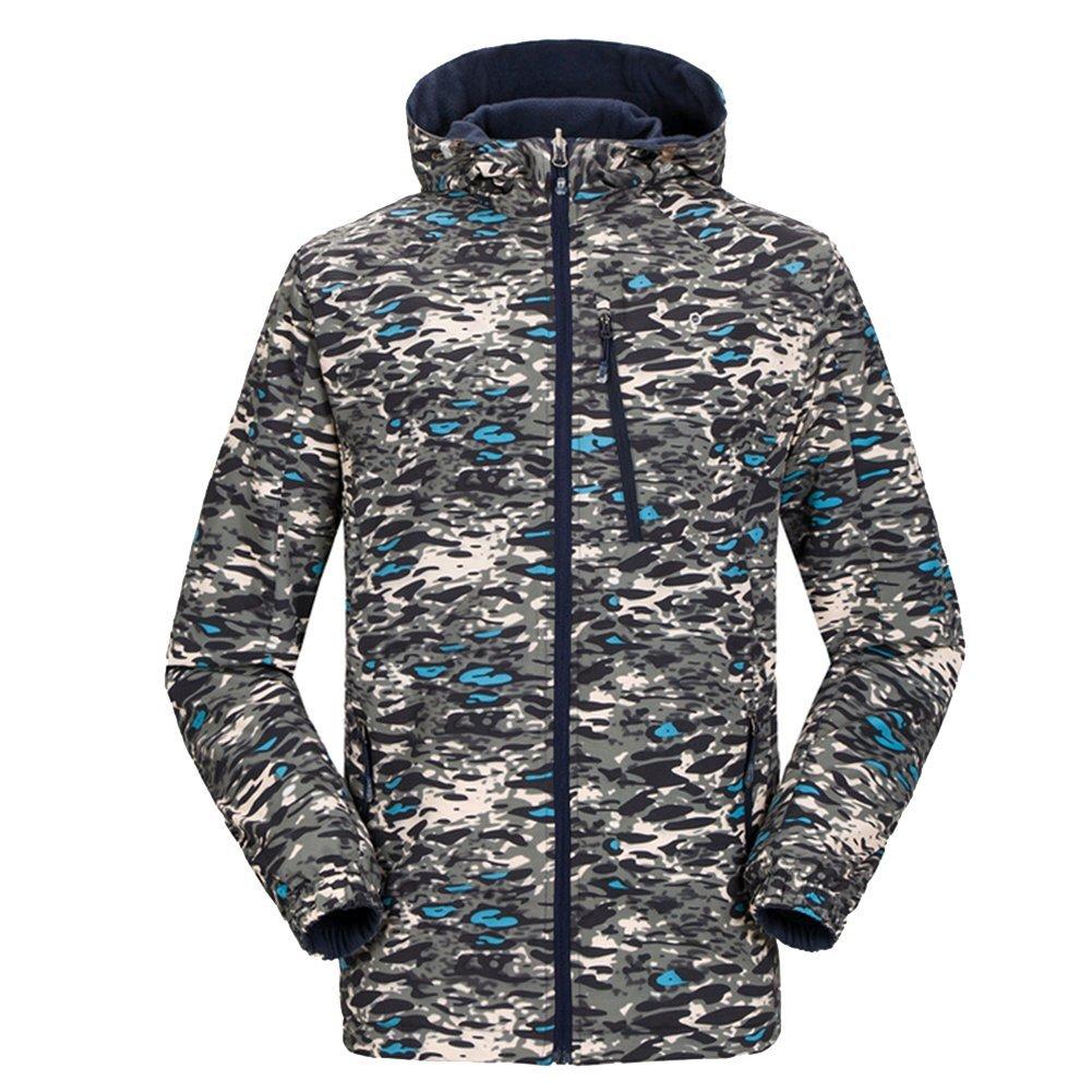 iisport® Outdoorjacke Fleecejacke Reversible Jackemit kapuze wasserdicht atmungsaktiv herren & Damen online kaufen
