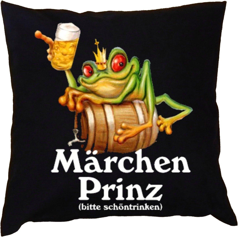 Kissen mit Innenkissen – Märchenprinz – mit 40 x 40 cm – in schwarz : ) günstig bestellen