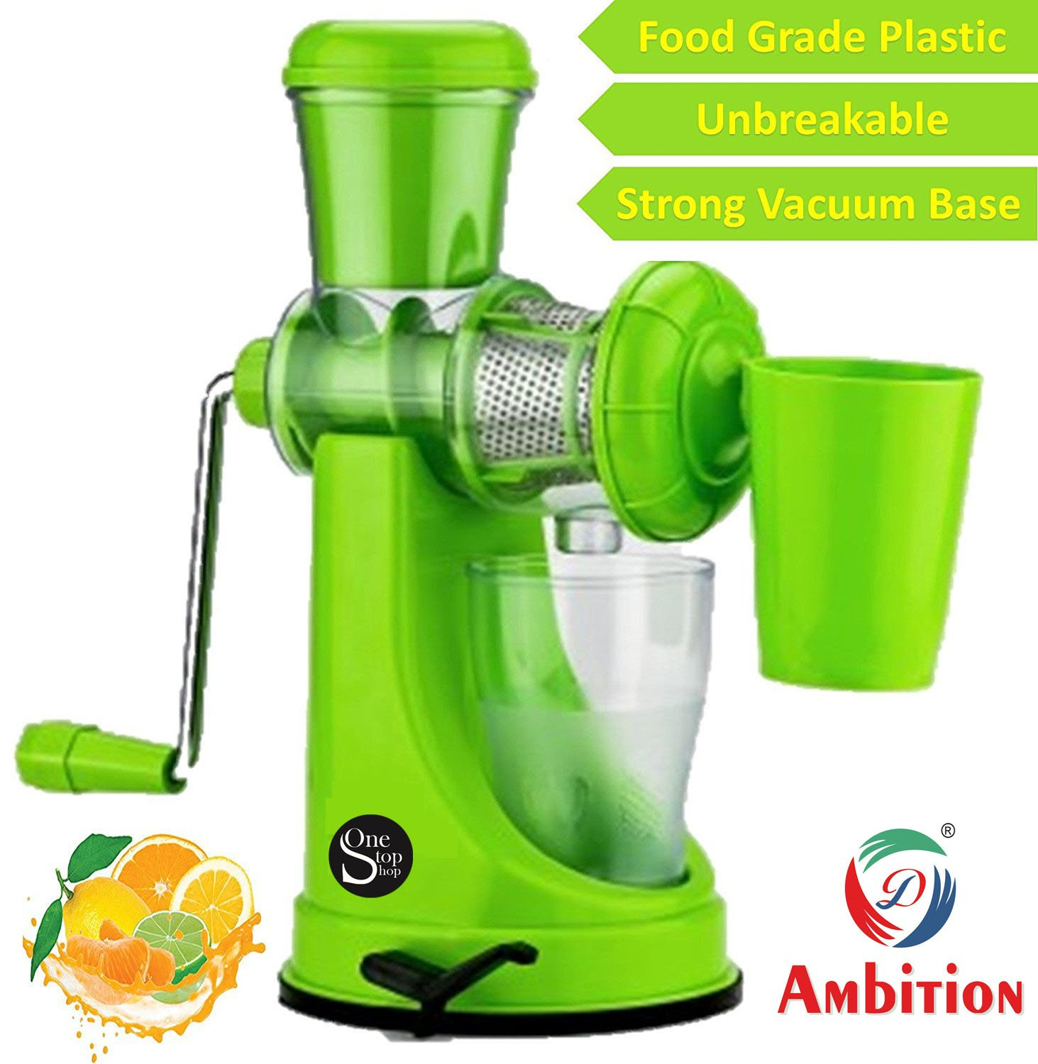 Fruit And Vegetable Juicer With Steel Handle