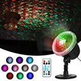 Sawpy Colorful Automatically Moving Water Wave led Projector, 4 in 1 LED 6W Decorations Projection Lamps for Waterproof Outdoor Indoor Wedding Party Holiday Disco, Night Club Bar Pub, New Year Party (Color: Water Wave Light)