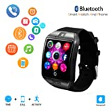 Smart Watch for Android Phones,Android Smartwatch Touchscreen with Camera,Smart Watches with Text,Bluetooth Watch Phone with SIM Card Slot Watch Cell Phone Compatible Android iOS Men Women (Black) (Color: black)
