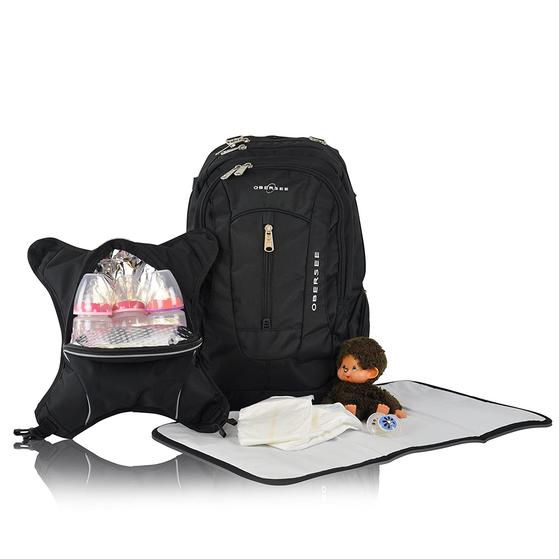 o3obpca031 obersee oslo unisex diaper bag backpack. Black Bedroom Furniture Sets. Home Design Ideas