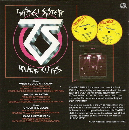 Twisted Sister - Come Out And Play On CD?