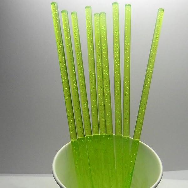 50pcs 4 X 5/32 Green Bubble Acrylic Lollipop Sticks for Cake Pops Lollipop Candy (Color: Green Bubble 4, Tamaño: 4)