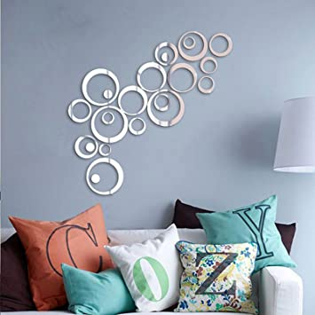 Saifee Acrylic 3D Home & Office Décor Wall Sticker (Circles, ...