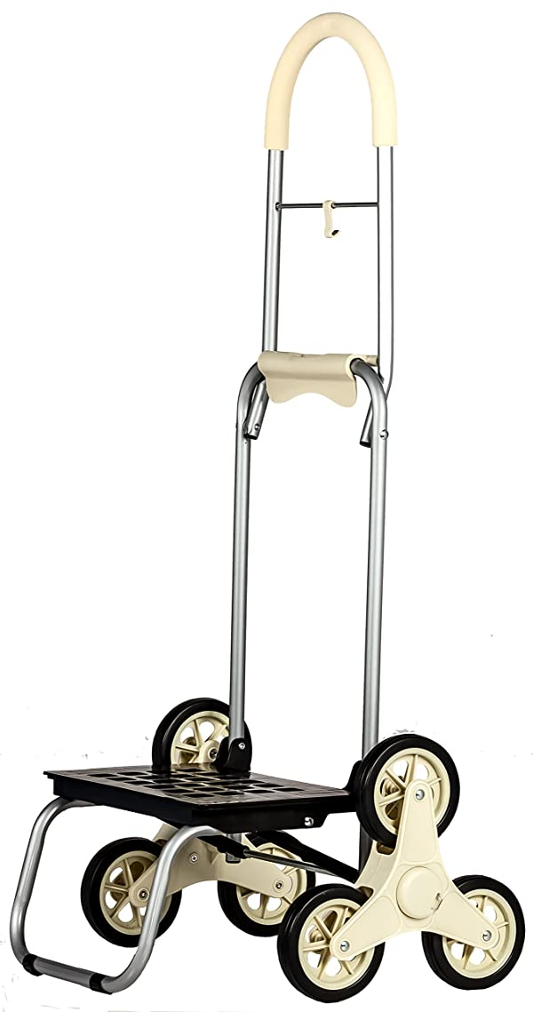 dbest products Stair Climber Mighty Max Personal Dolly ,Cream Handtruck Hardware Garden Utilty Cart (Color: Cream, Tamaño: Standard)